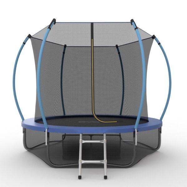 1 - EVO JUMP Internal 10ft (Blue) + Lower net. Батут с внутренней сеткой и лестницей, диаметр 10ft (синий) + нижняя сеть.