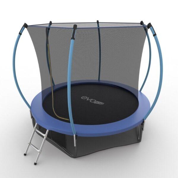 2 - EVO JUMP Internal 10ft (Blue) + Lower net. Батут с внутренней сеткой и лестницей, диаметр 10ft (синий) + нижняя сеть.