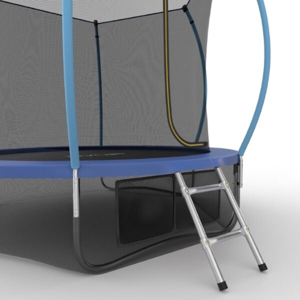 3 - EVO JUMP Internal 10ft (Blue) + Lower net. Батут с внутренней сеткой и лестницей, диаметр 10ft (синий) + нижняя сеть.