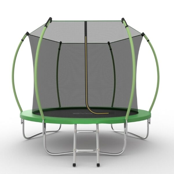 1 - EVO JUMP Internal 10ft (Green) Батут с внутренней сеткой и лестницей, диаметр 10ft (зеленый/синий).