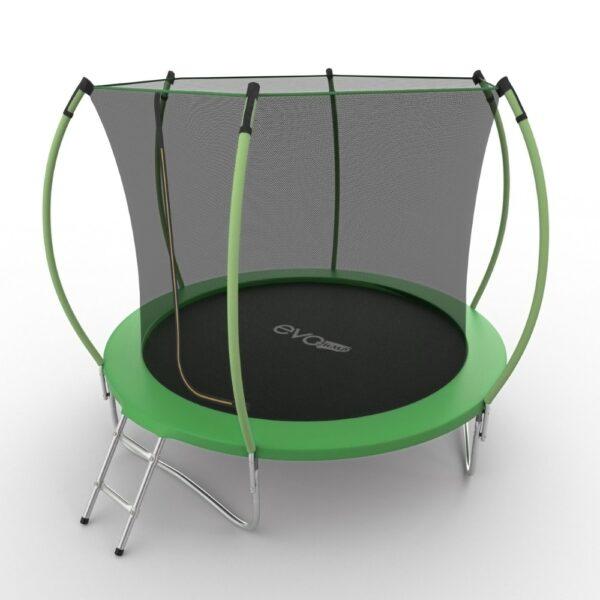 2 - EVO JUMP Internal 10ft (Green) Батут с внутренней сеткой и лестницей, диаметр 10ft (зеленый/синий).