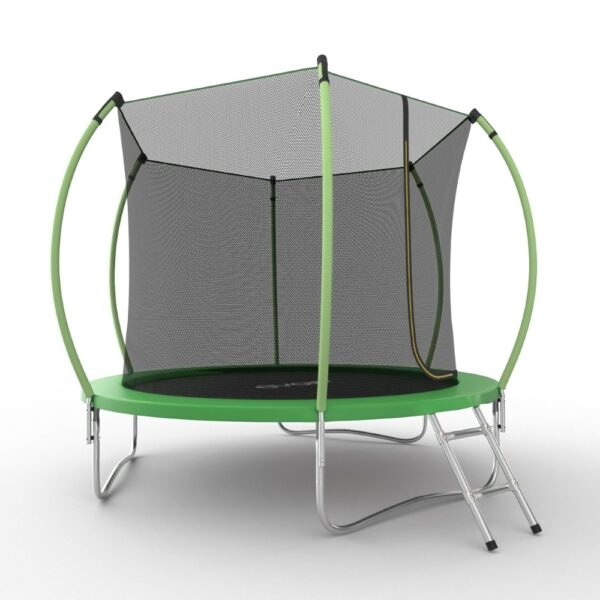 3 - EVO JUMP Internal 10ft (Green) Батут с внутренней сеткой и лестницей, диаметр 10ft (зеленый/синий).
