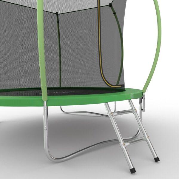 4 - EVO JUMP Internal 10ft (Green) Батут с внутренней сеткой и лестницей, диаметр 10ft (зеленый/синий).