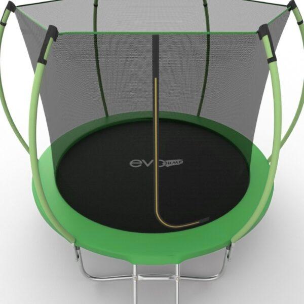 5 - EVO JUMP Internal 10ft (Green) Батут с внутренней сеткой и лестницей, диаметр 10ft (зеленый/синий).