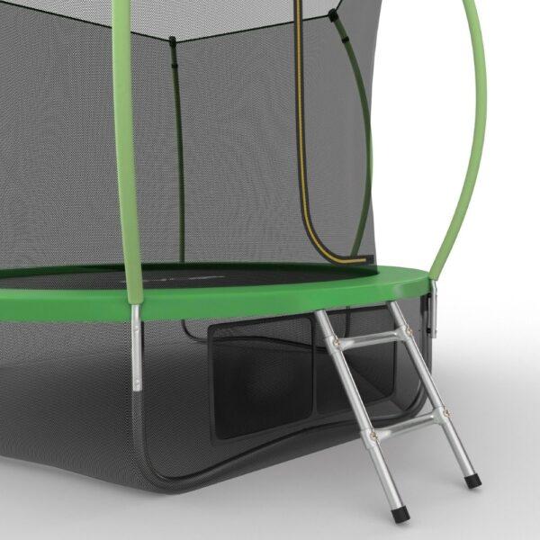 3 - EVO JUMP Internal 10ft (Green) + Lower net. Батут с внутренней сеткой и лестницей, диаметр 10ft (зеленый) + нижняя сеть.