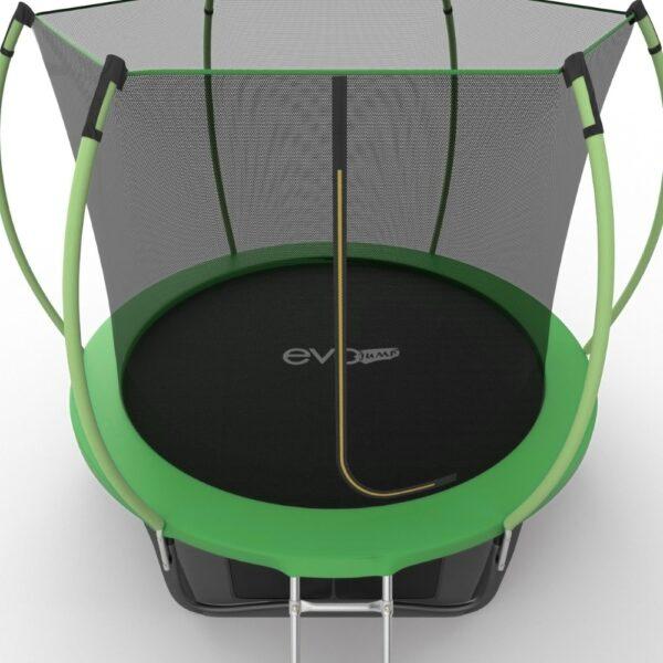4 - EVO JUMP Internal 10ft (Green) + Lower net. Батут с внутренней сеткой и лестницей, диаметр 10ft (зеленый) + нижняя сеть.