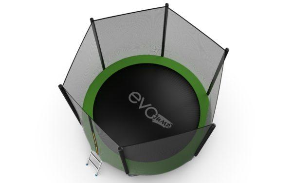 5 - EVO JUMP External 10ft (Green) + Lower net. Батут с внешней сеткой и лестницей, диаметр 10ft (зеленый) + нижняя сеть.