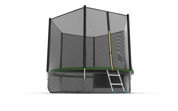 2 - EVO JUMP External 10ft (Green) + Lower net. Батут с внешней сеткой и лестницей, диаметр 10ft (зеленый) + нижняя сеть.
