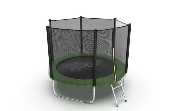 EVO JUMP External 8ft (Green) Батут с внешней сеткой и лестницей, диаметр 8ft (зеленый)