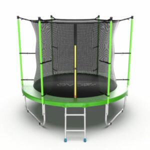 3 - EVO JUMP Internal 8ft (Green) Батут с внутренней сеткой и лестницей, диаметр 8ft (зеленый).