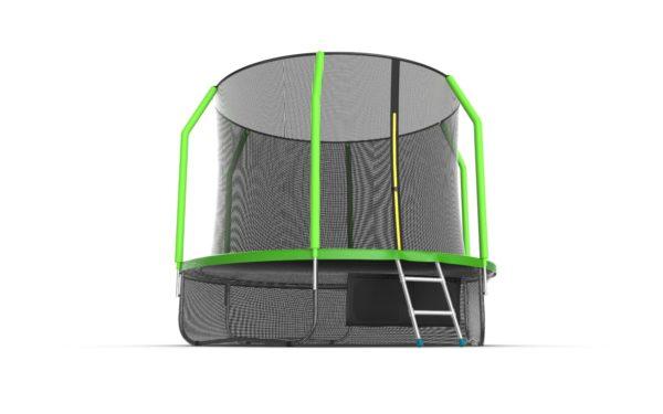 6 - EVO JUMP Cosmo 10ft (Green) + Lower net. Батут с внутренней сеткой и лестницей, диаметр 10ft (зеленый) + нижняя сеть.