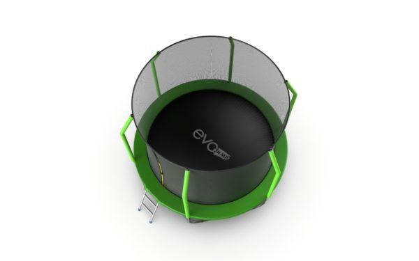 5 - EVO JUMP Cosmo 10ft (Green) + Lower net. Батут с внутренней сеткой и лестницей, диаметр 10ft (зеленый) + нижняя сеть.