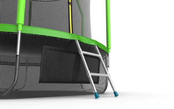 2 - EVO JUMP Cosmo 10ft (Green) + Lower net. Батут с внутренней сеткой и лестницей, диаметр 10ft (зеленый) + нижняя сеть.