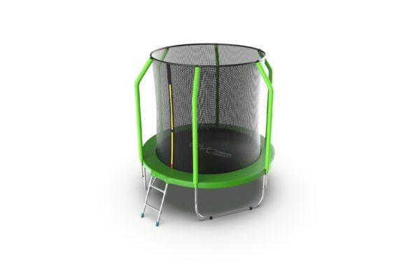 6 - EVO Jump Cosmo 6ft (Green) Батут с внутренней сеткой и лестницей, диаметр 6ft (зеленый).