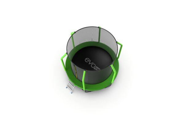 4 - EVO Jump Cosmo 6ft (Green) Батут с внутренней сеткой и лестницей, диаметр 6ft (зеленый).