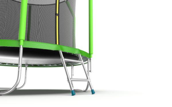 2 - EVO Jump Cosmo 6ft (Green) Батут с внутренней сеткой и лестницей, диаметр 6ft (зеленый).
