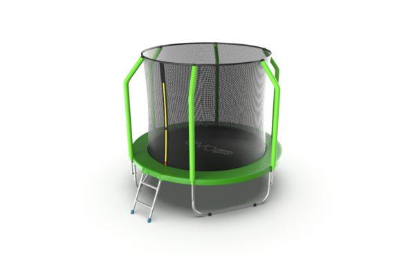 EVO JUMP Cosmo 8ft (Green) Батут с внутренней сеткой и лестницей, диаметр 8ft (зеленый)