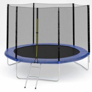 4 - Батут Diamond fitness external 12 FT (366 см) с защитной сеткой и лестницей.