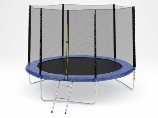 1 - Батут Diamond fitness external 12 FT (366 см) с защитной сеткой и лестницей.