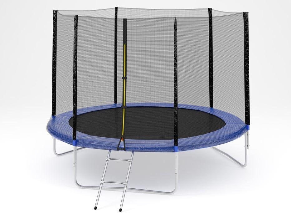 Батут Diamond fitness external 12 FT (366 см) с защитной сеткой и лестницей