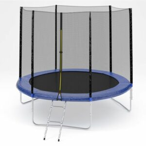 3 - Батут Diamond fitness external 6FT (183 см) с защитной сеткой и лестницей.