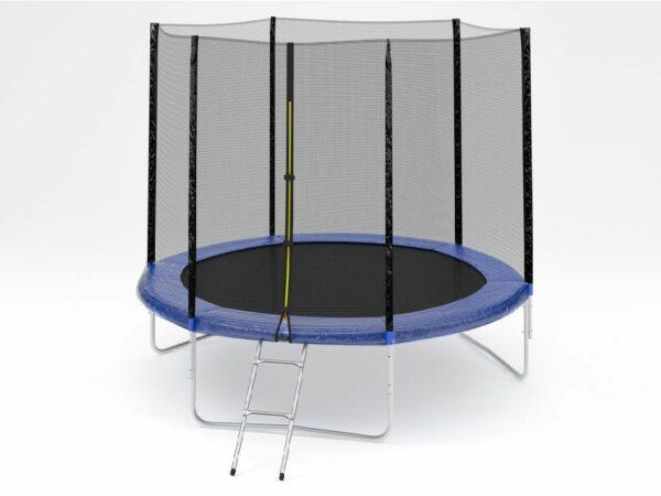 1 - Батут Diamond fitness external 6FT (183 см) с защитной сеткой и лестницей.
