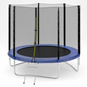 6 - Батут Diamond fitness external 8 FT (244 см) с защитной сеткой и лестницей.