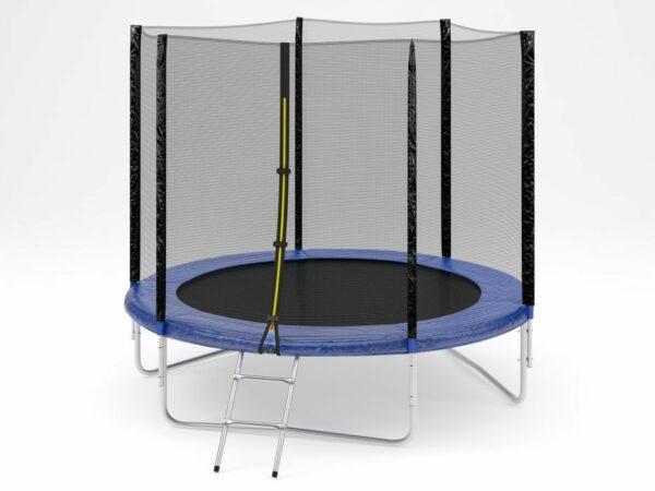 1 - Батут Diamond fitness external 8 FT (244 см) с защитной сеткой и лестницей.