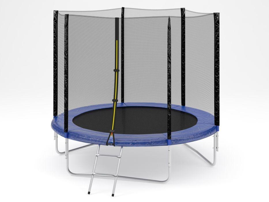 Батут Diamond fitness external 8 FT (244 см) с защитной сеткой и лестницей