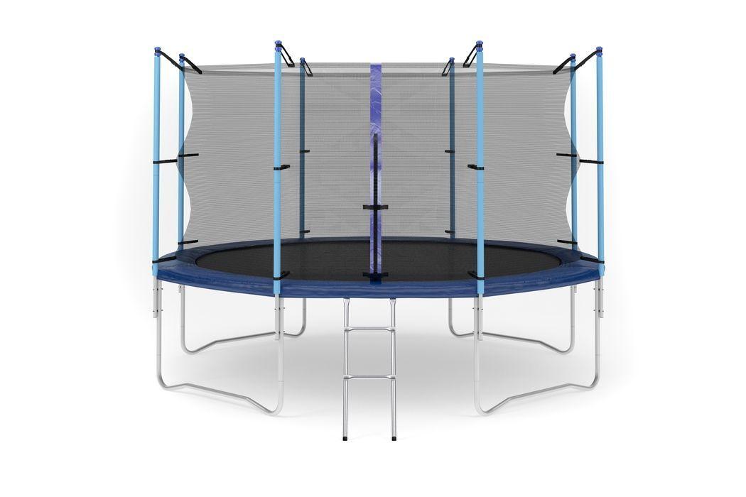 Батут Diamond fitness internal 12 FT (366 см) с защитной сеткой и лестницей