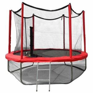 7 - Батут Optima Fitness Jumper 8ft (2.44m) с защитной сеткой и лестницей.