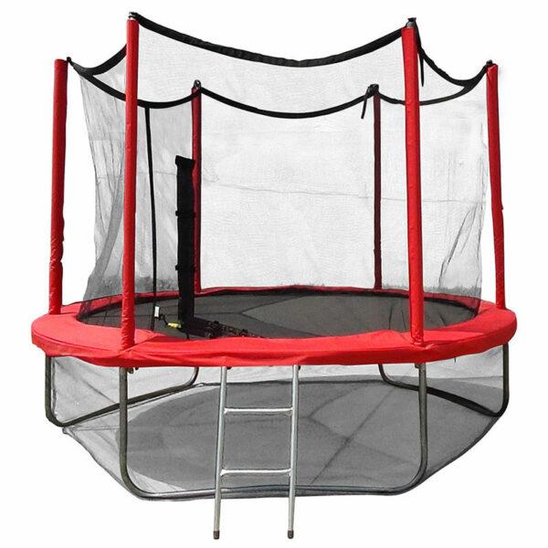 1 - Батут Optima Fitness Jumper 8ft (2.44m) с защитной сеткой и лестницей.