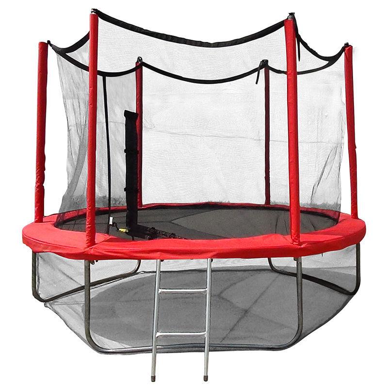 Батут Optima Fitness Jumper 8ft (2.44m) с защитной сеткой и лестницей
