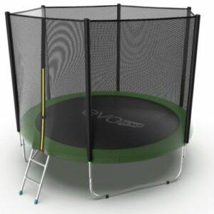 6 - Батут с с внешней сеткой и лестницей EVO Jump External 10ft (Green).