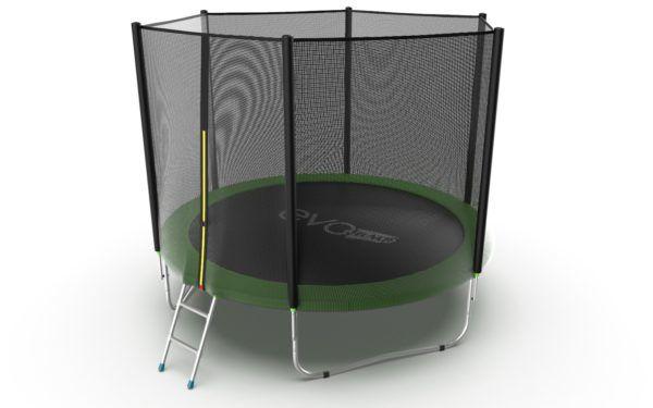 Батут с с внешней сеткой и лестницей EVO Jump External 10ft (Green)
