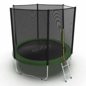 6 - Батут с внешней сеткой и лестницей EVO Jump External 6ft (Green).
