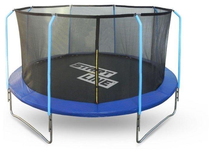Батут Start Line Fitness 12FT с внутренней сеткой и лестницей