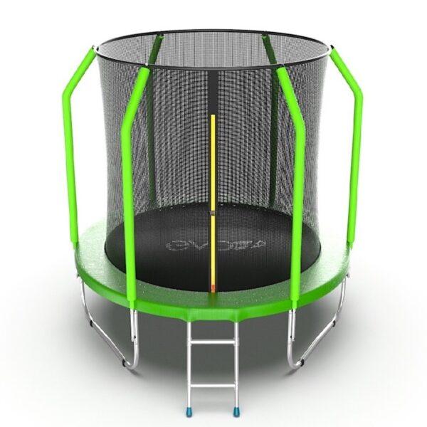 1 - EVO Jump Cosmo 6ft (Green) Батут с внутренней сеткой и лестницей, диаметр 6ft (зеленый).