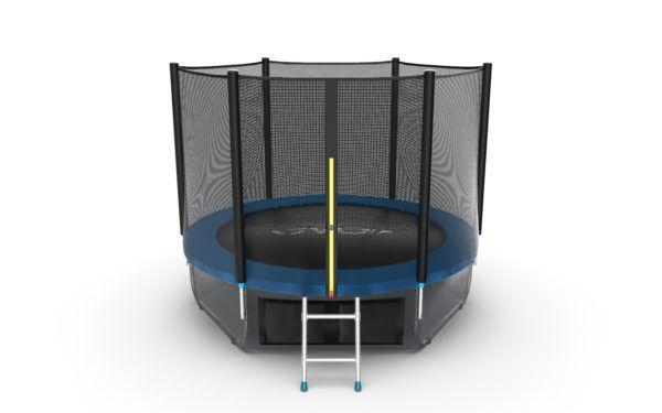 1 - EVO JUMP External 8ft (Green) + Lower net. Батут с внешней сеткой и лестницей, диаметр 8ft (зеленый/синий) + нижняя сеть.