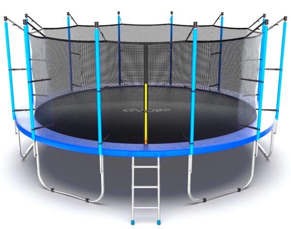 1 - EVO JUMP Internal 16ft (Blue) Батут с внутренней сеткой и лестницей, диаметр 16ft (синий).