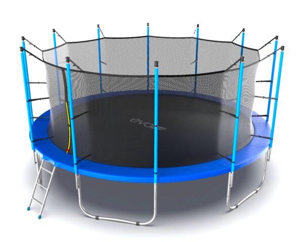 2 - EVO JUMP Internal 16ft (Blue) Батут с внутренней сеткой и лестницей, диаметр 16ft (синий).