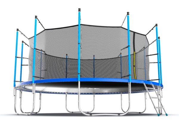 3 - EVO JUMP Internal 16ft (Blue) Батут с внутренней сеткой и лестницей, диаметр 16ft (синий).