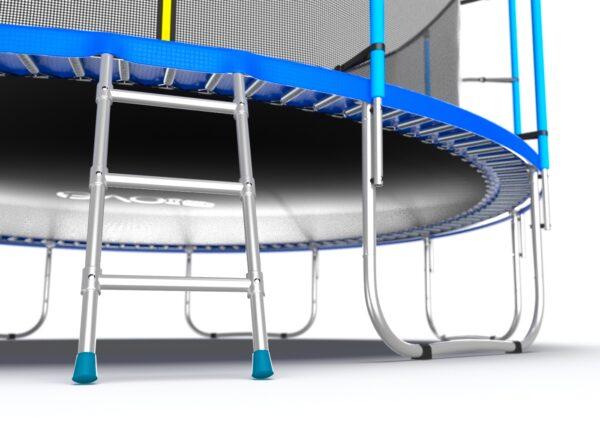5 - EVO JUMP Internal 16ft (Blue) Батут с внутренней сеткой и лестницей, диаметр 16ft (синий).