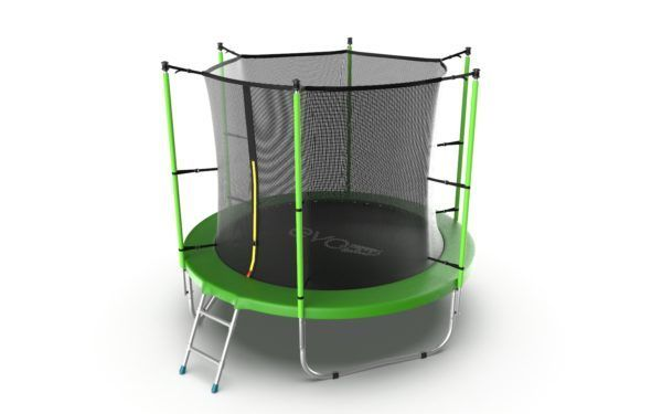 EVO JUMP Internal 8ft (Green) Батут с внутренней сеткой и лестницей, диаметр 8ft (зеленый/синий)