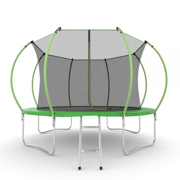 1 - EVO JUMP Internal 12ft (Green) Батут с внутренней сеткой и лестницей, диаметр 12ft (зеленый).