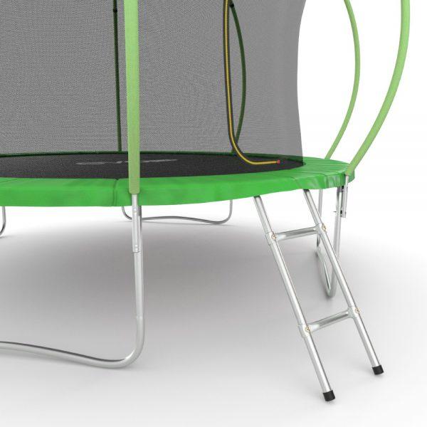 4 - EVO JUMP Internal 12ft (Green) Батут с внутренней сеткой и лестницей, диаметр 12ft (зеленый).