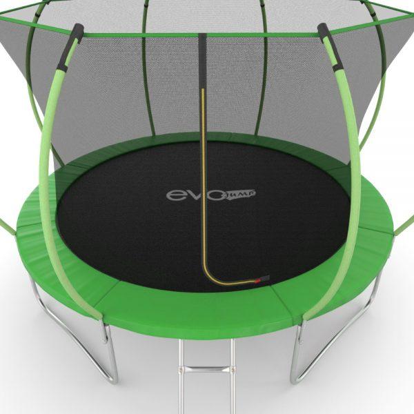 2 - EVO JUMP Internal 12ft (Green) Батут с внутренней сеткой и лестницей, диаметр 12ft (зеленый).