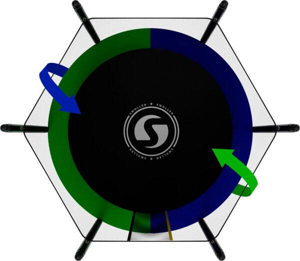 3 - Батут SWOLLEN Classic Black 6 FT.