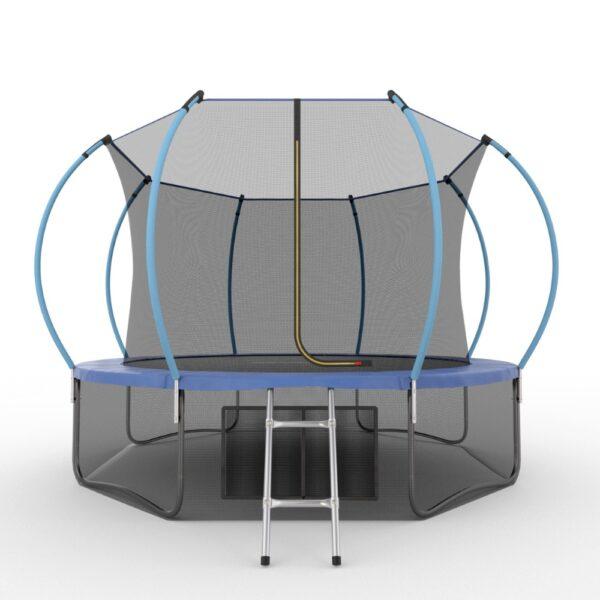 1 - EVO JUMP Internal 12ft (Blue) + Lower net. Батут с внутренней сеткой и лестницей, диаметр 12ft (синий) + нижняя сеть.