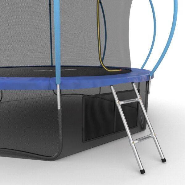 3 - EVO JUMP Internal 12ft (Blue) + Lower net. Батут с внутренней сеткой и лестницей, диаметр 12ft (синий) + нижняя сеть.